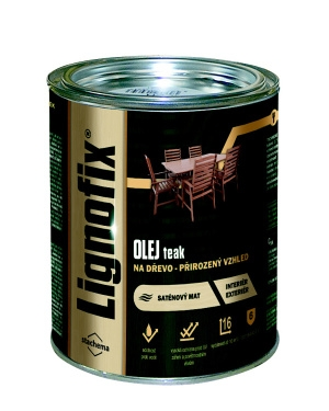 Olej na dřevo Lignofix Teak 0,75l