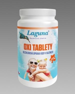 Bezchlorová bazénová chemie Laguna OXI Mini tablety 1kg