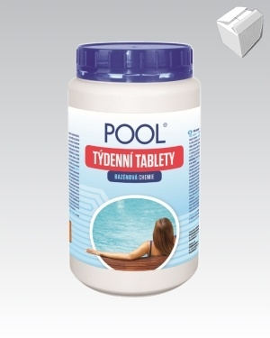 Chlorové tablety do bazénu Laguna Pool – Týdenní tablety 1kg karton