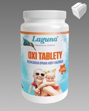 Bezchlorová bazénová chemie Laguna OXI Mini tablety 1kg karton