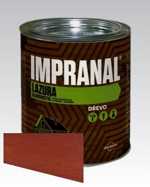 Lazurovací lak - tenkovrstvá Lazura na dřevo Impranal mahagon 2,5l