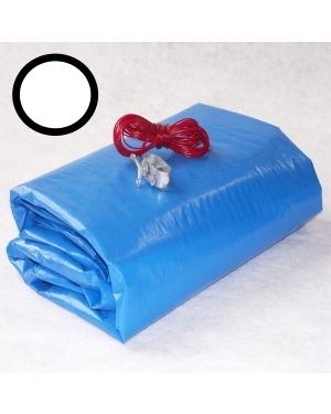 Krycí zimní plachta na bazén kruh 3,66m modrá
