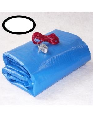 Krycí zimní plachta na bazén ovál 7,3x3,7m modrá