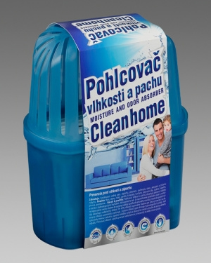 Pohlcovač vlhkosti a pachu Cleanhome – komplet 650g/35m3