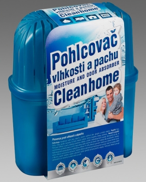 Pohlcovač vlhkosti a pachu Cleanhome – komplet 1300g/80m3