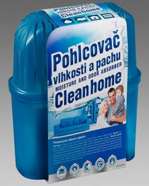 Pohlcovač vlhkosti a pachu Cleanhome – komplet 1300g/80m3 karton