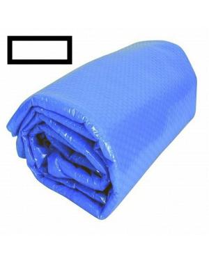Solární plachta na bazén obdélník 9x4m modrá