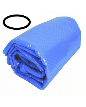 Solární plachta na bazén ovál 6,1x3,7m modrá